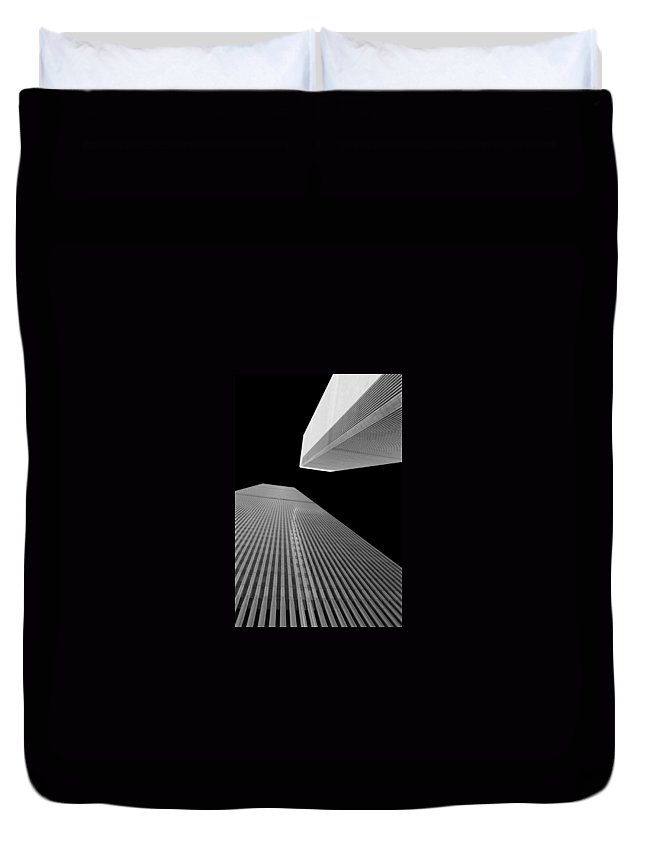 New York Duvet Cover featuring the photograph World Trade Center 2 by Jeff Watts