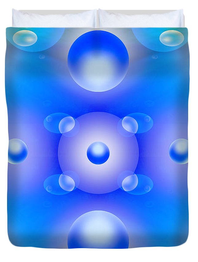 Abstract Duvet Cover featuring the photograph Worlds Collide 1 by Mike McGlothlen