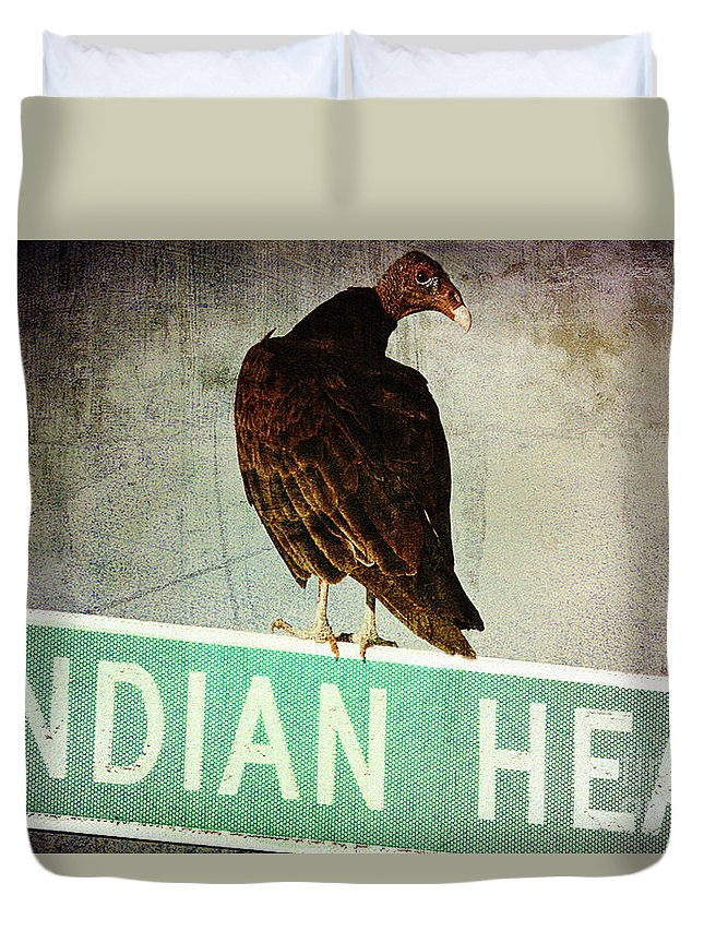 Turkey Vulture Duvet Cover featuring the photograph Wrong Turn by Trish Mistric