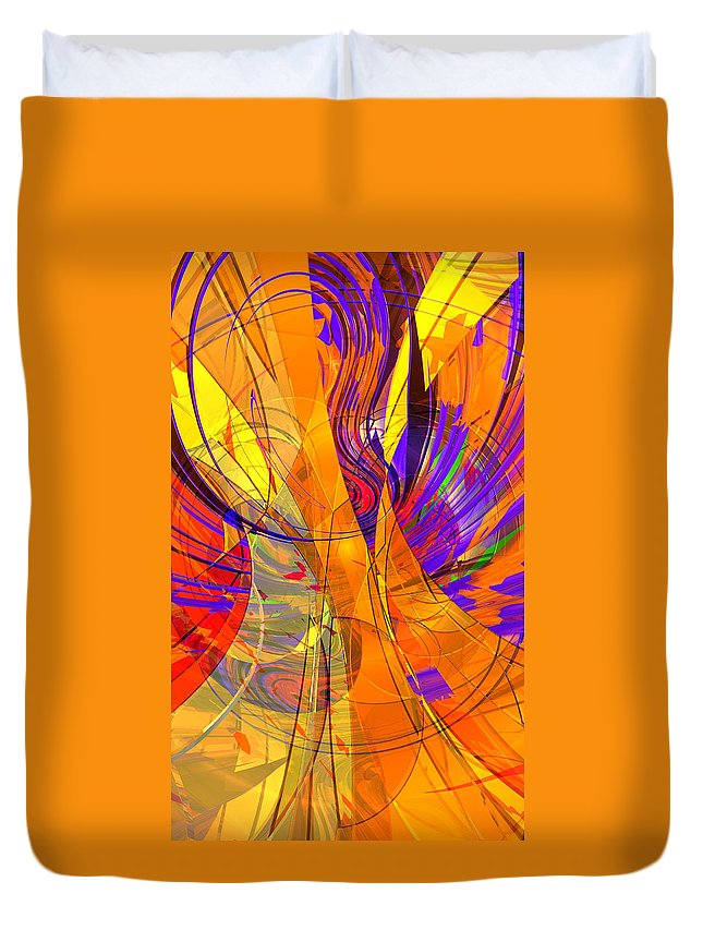 Abstract Duvet Cover featuring the digital art Wut B 2 by Zac AlleyWalker Lowing