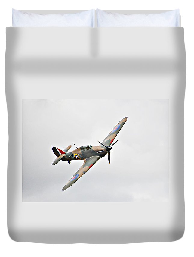 Plane Duvet Cover featuring the photograph Wwii Fighter Plane The Hurricane by Tom Conway