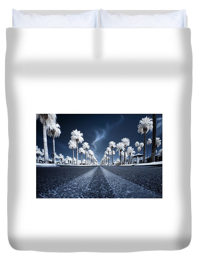 Infrared Duvet Cover featuring the photograph X by Sean Foster