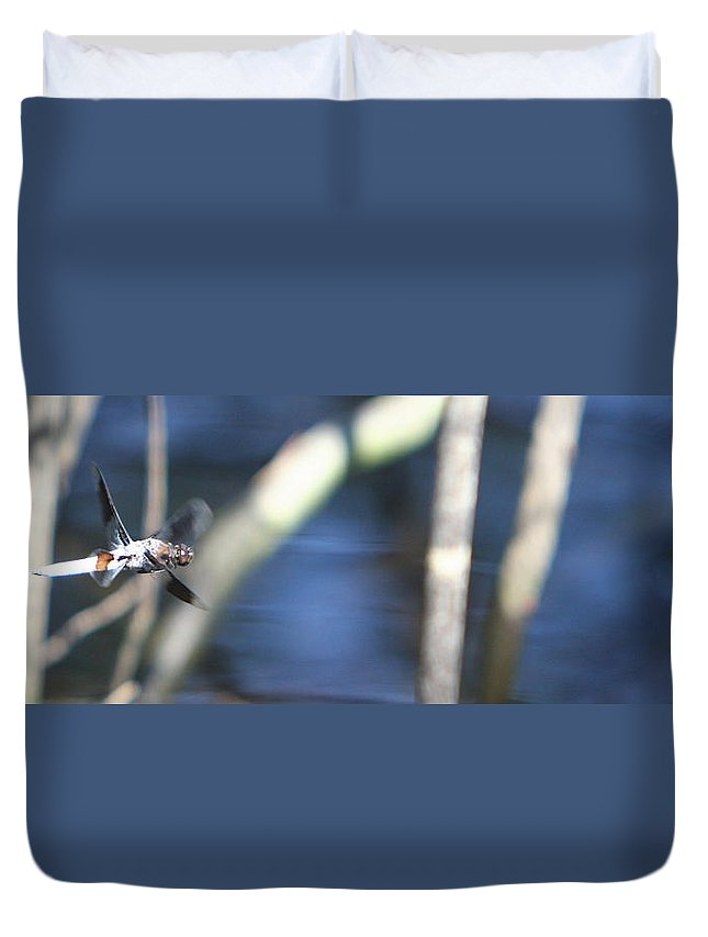 Panoramic Duvet Cover featuring the photograph X-wing Fighter by James F Towne