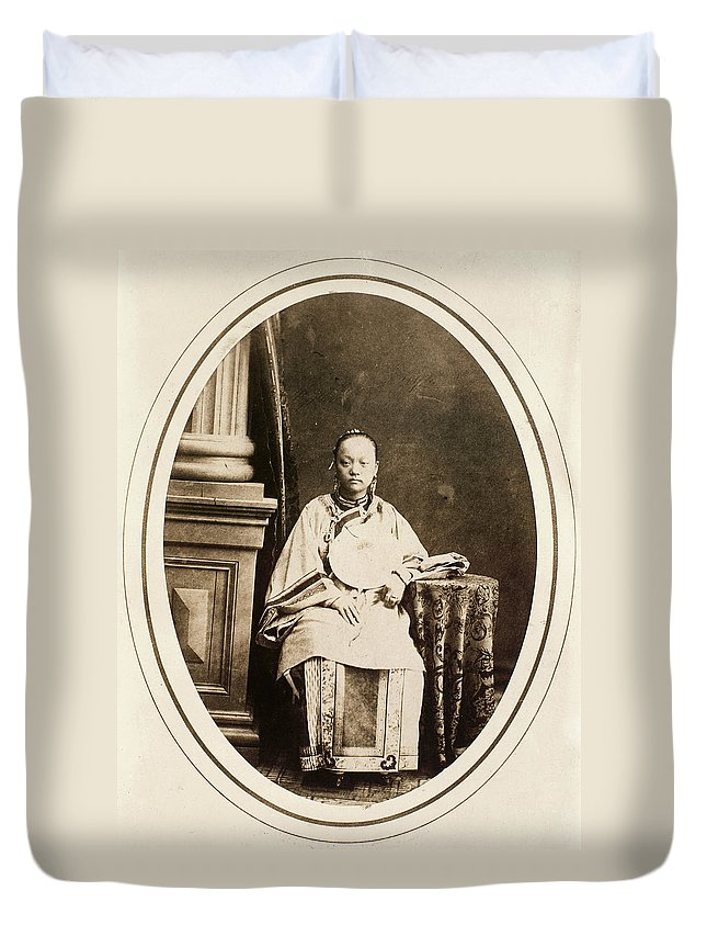19th Century Duvet Cover featuring the photograph Yang Chang-mei (d by Granger