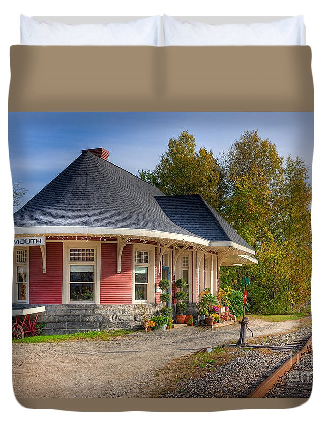 Clarence Holmes Duvet Cover featuring the photograph Yarmouth Grand Trunk Railroad Station I by Clarence Holmes