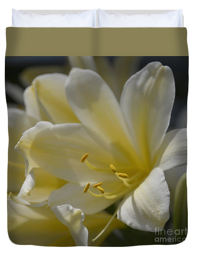 Floral Duvet Cover featuring the photograph Yellow 8713 by Terri Winkler