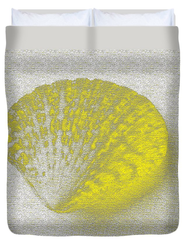 Yellow Duvet Cover featuring the digital art Yellow by Carol Lynch