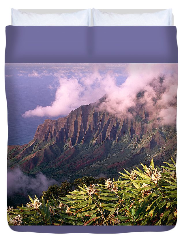 Aerial Duvet Cover featuring the photograph Yellow Ginger by Carl Shaneff - Printscapes