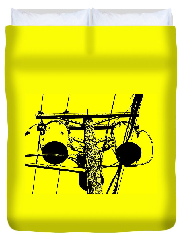 Yellow Duvet Cover featuring the photograph Yellow Power by Wayne Gill