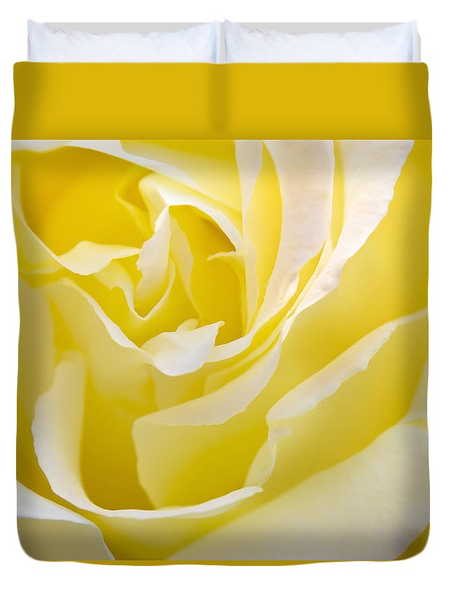Rose Duvet Cover featuring the photograph Yellow Rose by Svetlana Sewell
