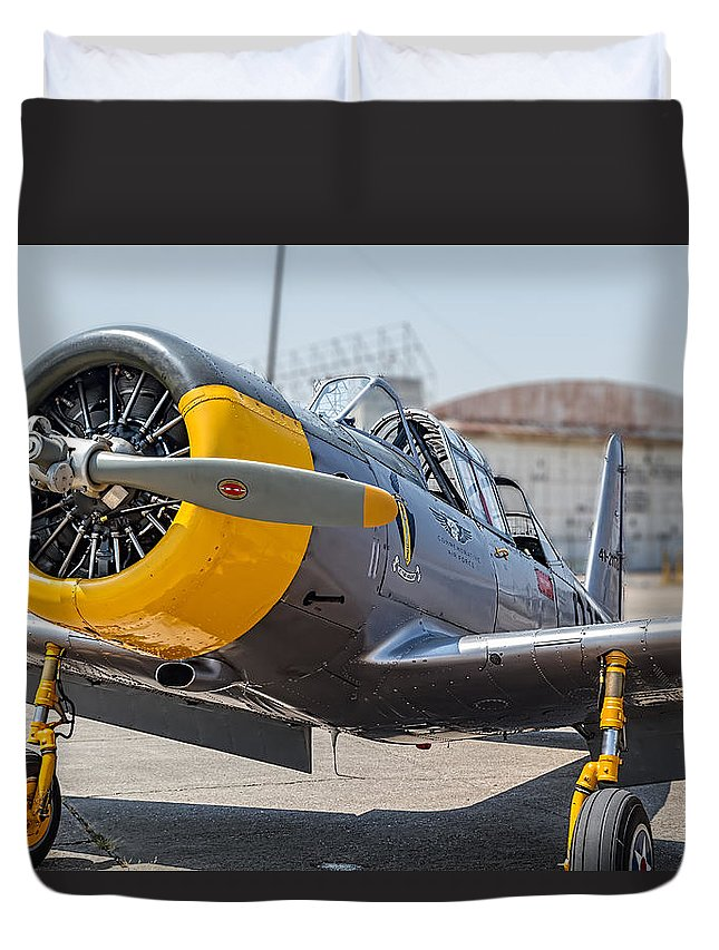 Yellow Valiant Duvet Cover featuring the photograph Yellow Valiant by Tim Stanley