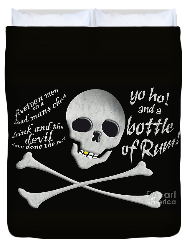 Pirates Duvet Cover featuring the painting Yo Ho And A Bottle Of Rum by Neil Finnemore