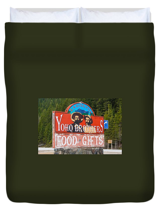 Canadian Rockies Duvet Cover featuring the photograph Yoho Brothers by Guy Whiteley