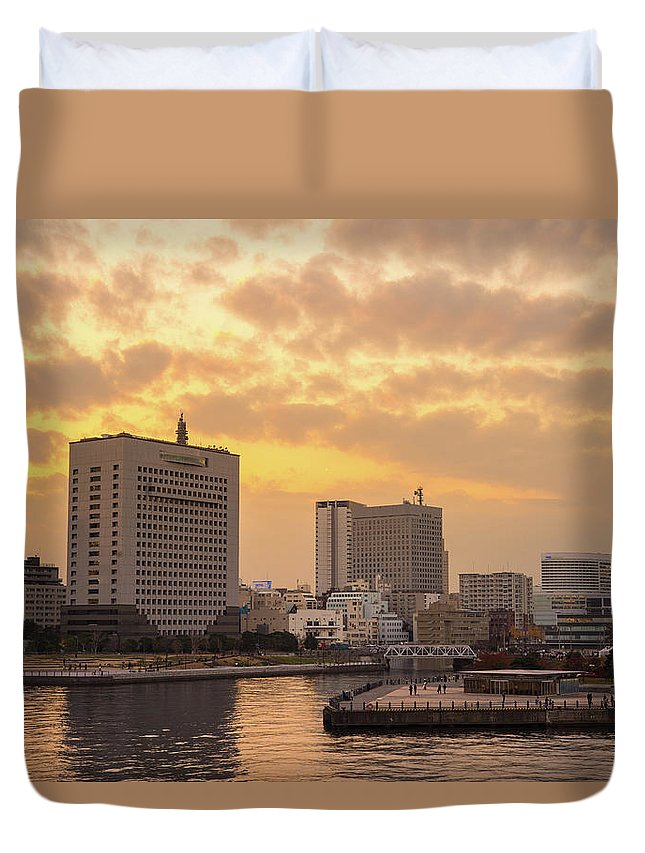 Tranquility Duvet Cover featuring the photograph Yokohama by I Like Camera And Life