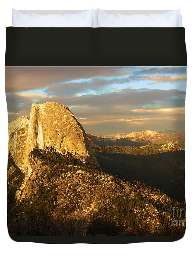 Half Dome Duvet Cover featuring the photograph Yosemite Half Dome by Adam Jewell