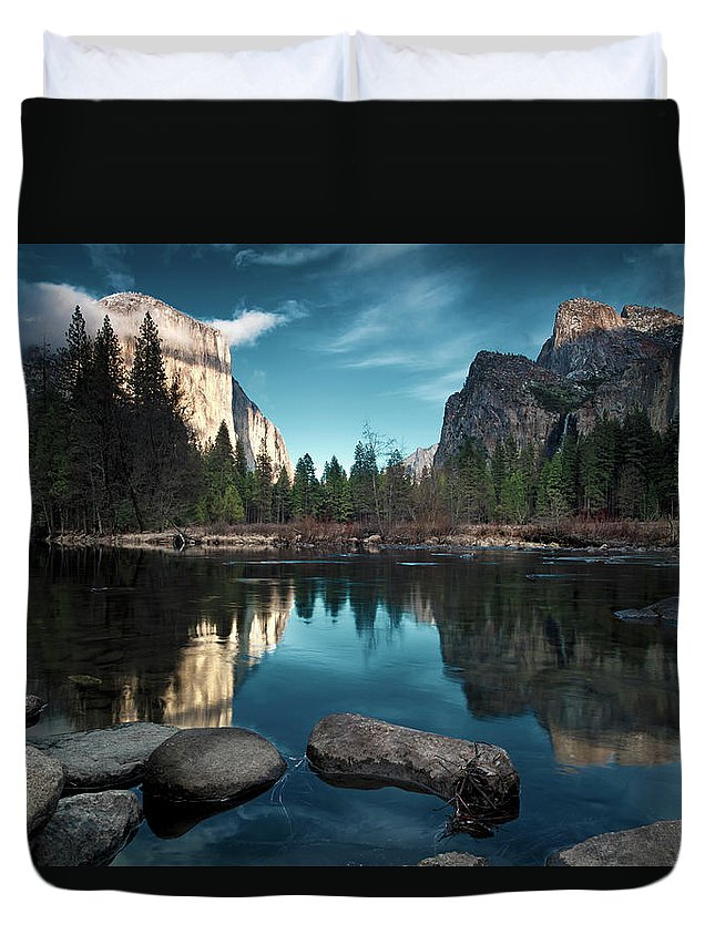 Scenics Duvet Cover featuring the photograph Yosemite Valley by Joe Ganster