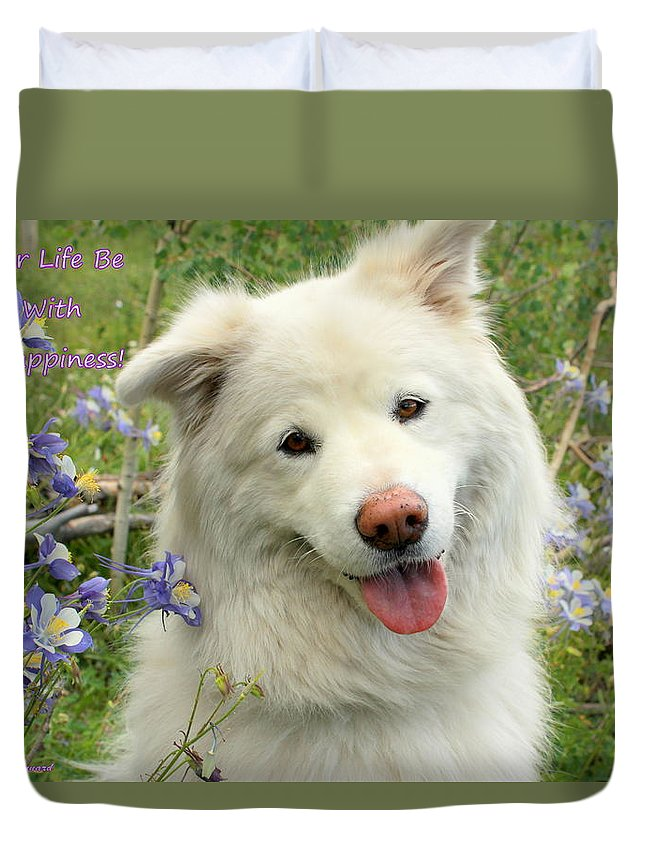 Samoyed Duvet Cover featuring the photograph You Are My Sunshine by Fiona Kennard