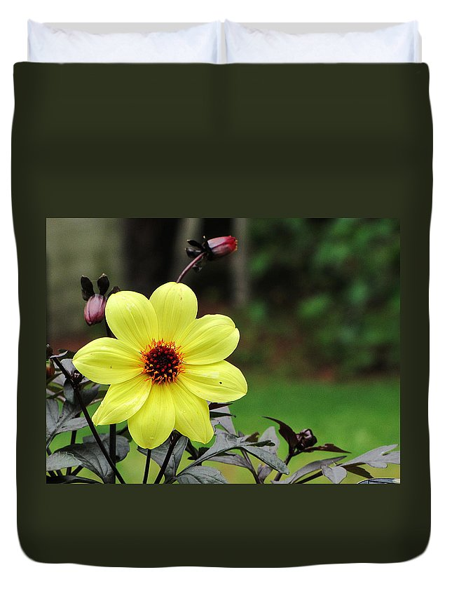 Floral Duvet Cover featuring the photograph You Are My Sunshine by Greg Simmons