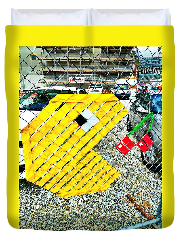 Pacman Duvet Cover featuring the photograph You Could Be Next by Steve Taylor
