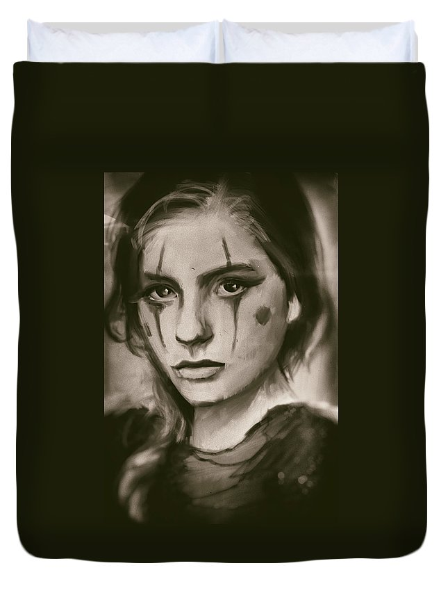 Portrait Duvet Cover featuring the painting You by H James Hoff