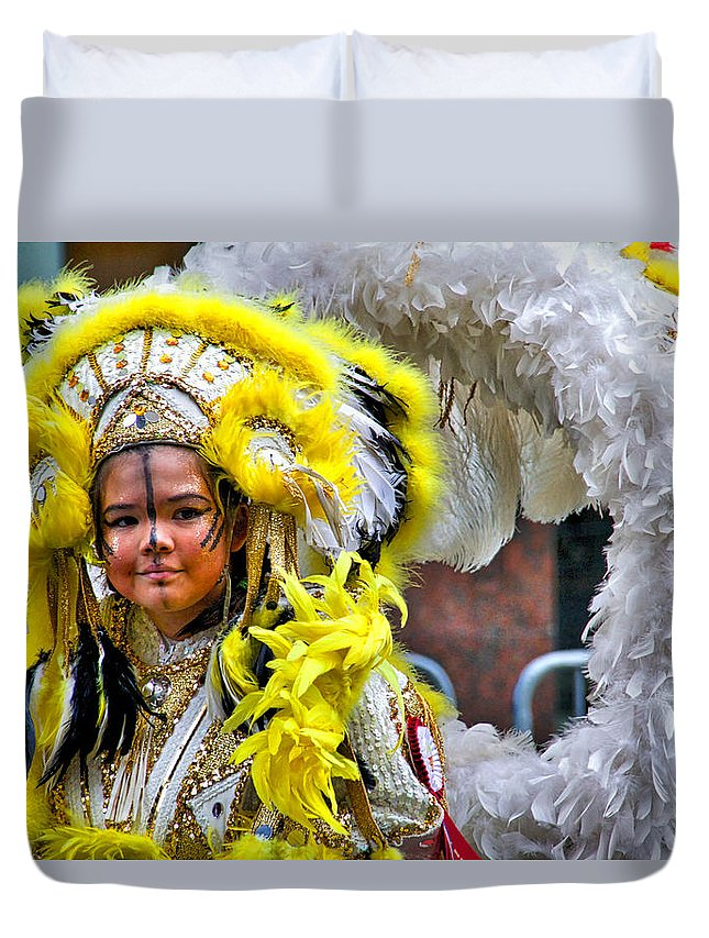 Mummer Duvet Cover featuring the photograph Young Lady Mummer by Alice Gipson