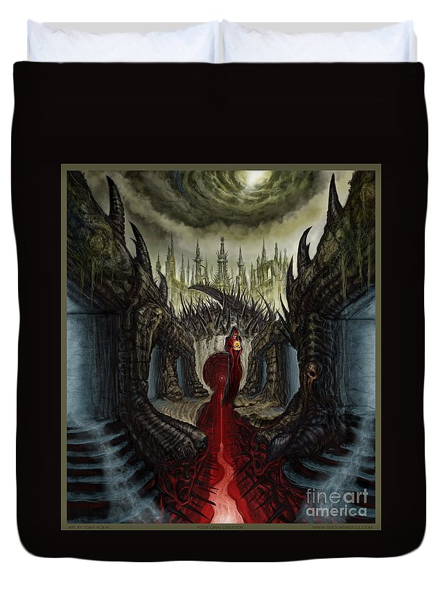 Merchants Of The Macabre Duvet Cover featuring the mixed media Your Creation by Tony Koehl