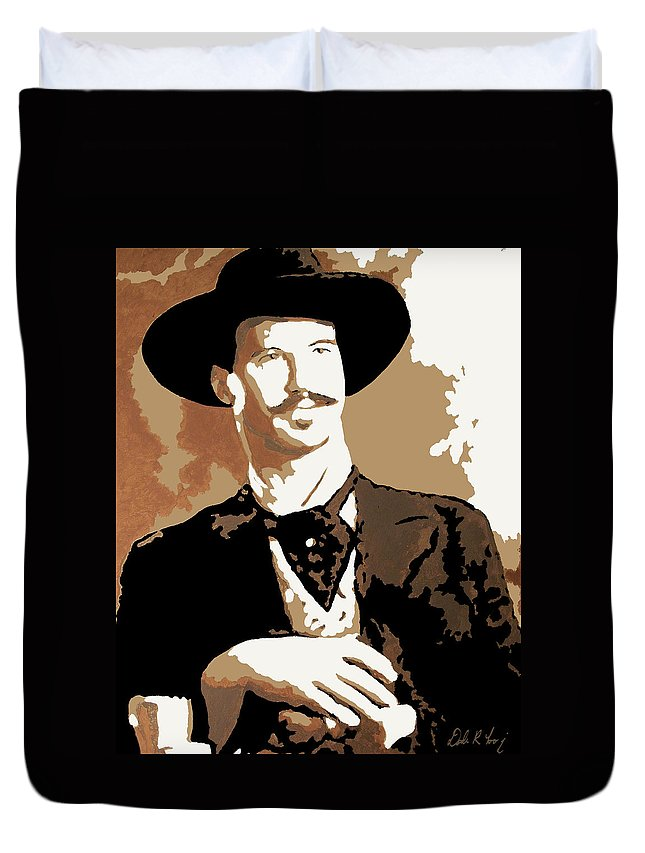 Film Duvet Cover featuring the painting Your Huckleberry by Dale Loos Jr