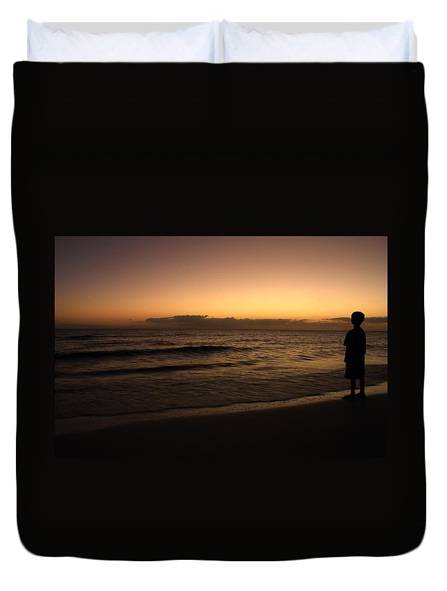 Sunset Duvet Cover featuring the photograph Youth Visions by Nunweiler Photography