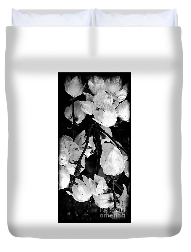 Yucca Duvet Cover featuring the photograph Yucca Flowers by Kathleen Struckle