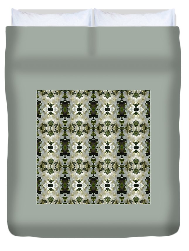 Yucca Duvet Cover featuring the photograph Yucca White Pattern by Nicki Bennett