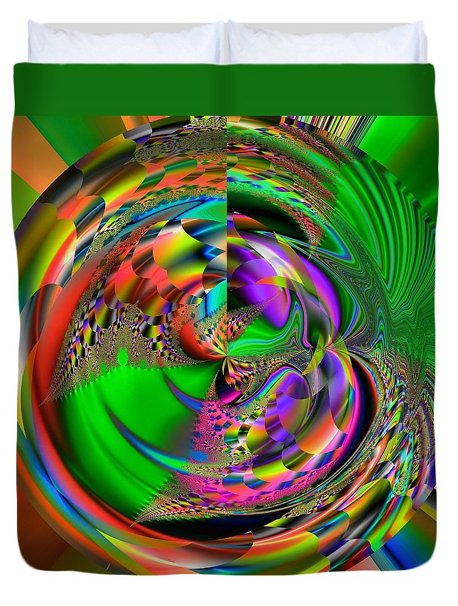 Abstract Duvet Cover featuring the digital art Zapdro by John Holfinger