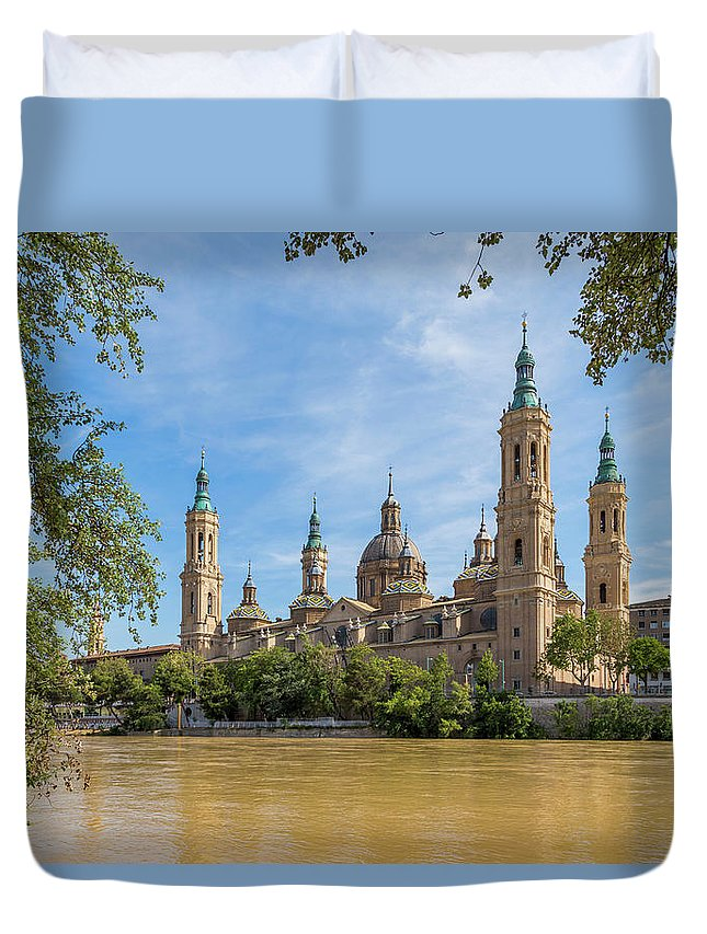 Photography Duvet Cover featuring the photograph Zaragoza, Zaragoza Province, Aragon by Panoramic Images