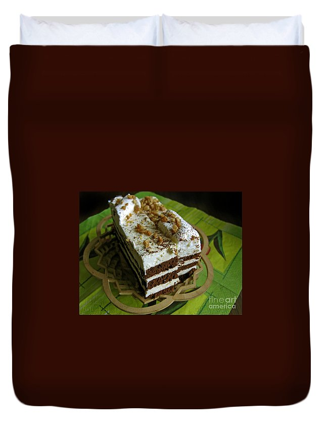 Cake Duvet Cover featuring the photograph Zebra Cake by Ausra Huntington nee Paulauskaite