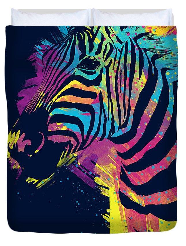 Zebra Splatters Duvet Cover For Sale By Olga Shvartsur