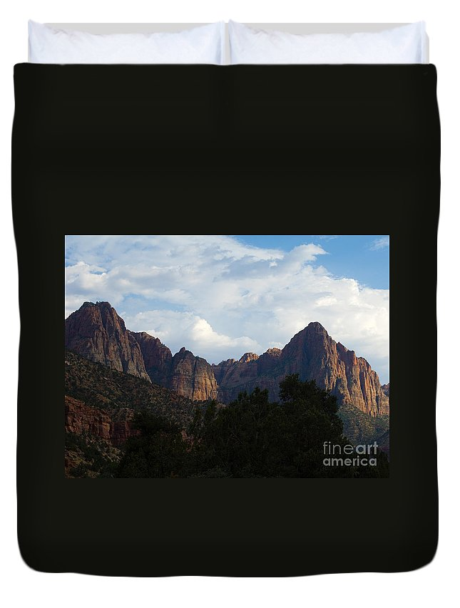 Zion National Park Duvet Cover featuring the photograph Zion National Park by Lee Roth