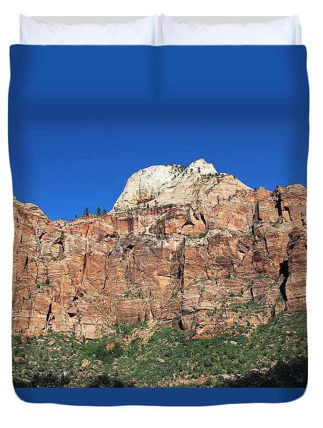 Zion Canyon Duvet Cover featuring the photograph Zion Wall by Jemmy Archer