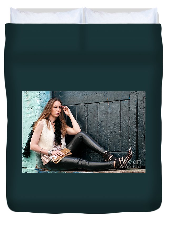 Zoe Duvet Cover featuring the photograph Zoe 11 by Rick Piper Photography