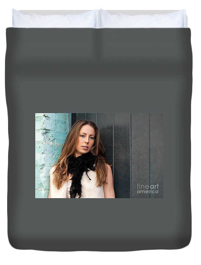 Zoe Duvet Cover featuring the photograph Zoe 12 by Rick Piper Photography