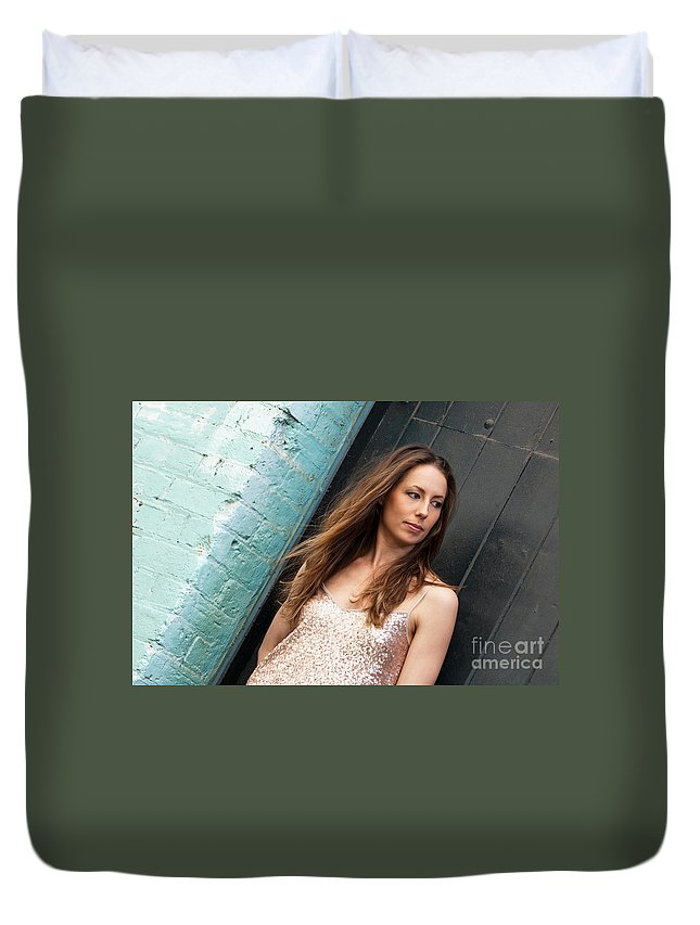 Zoe Duvet Cover featuring the photograph Zoe 13 by Rick Piper Photography
