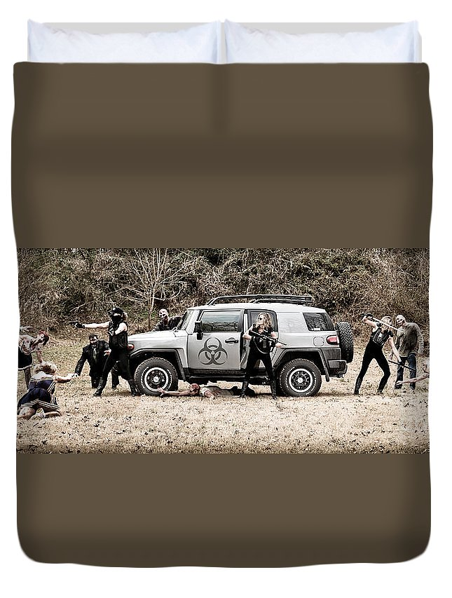Zombie Apocalypse Duvet Cover featuring the photograph Zombie Apocalypse by Jt PhotoDesign