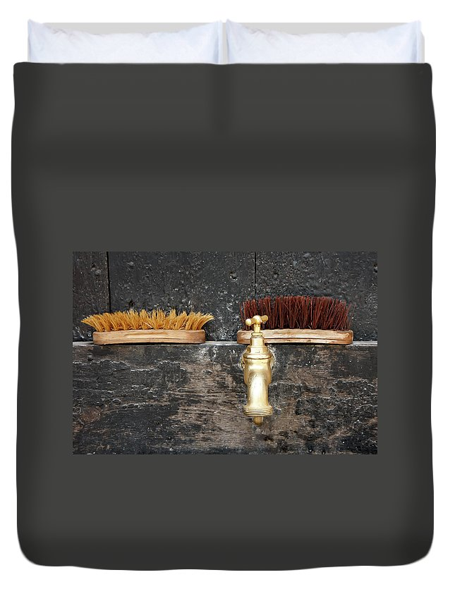 Kg Duvet Cover featuring the photograph Zuiderzee Brushes by KG Thienemann