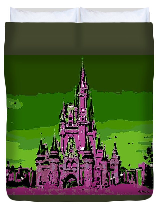 Disney World Duvet Cover featuring the photograph Castle Of Dreams by George Pedro