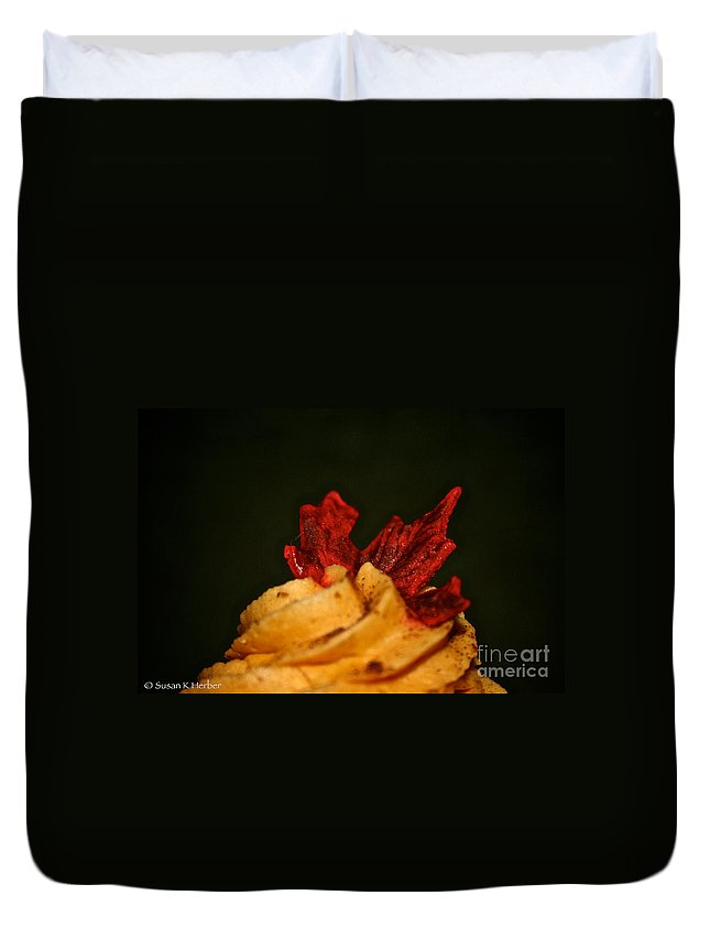 Dessert Duvet Cover featuring the photograph Delicious by Susan Herber