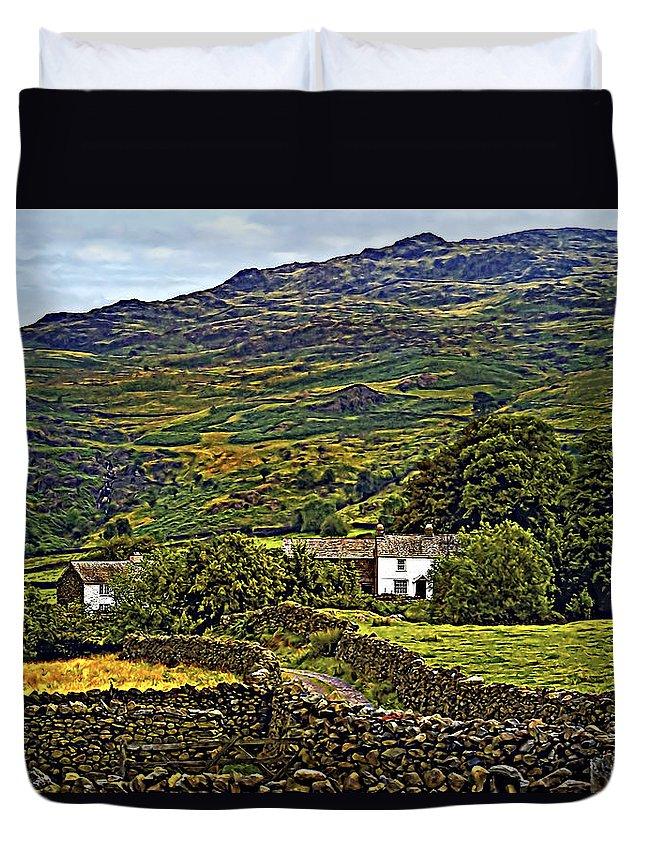 Duddon Valley Duvet Cover featuring the photograph Duddon Valley by Steve Harrington