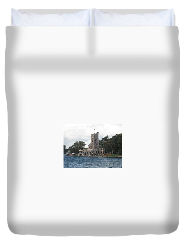Island Castle Duvet Cover featuring the photograph Island Castle by Sonali Gangane