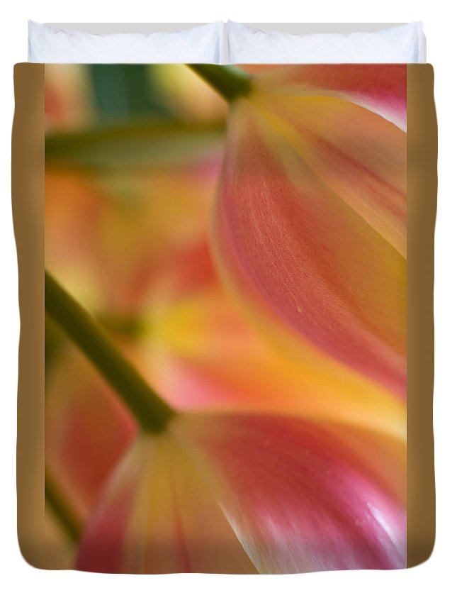 Tulip Duvet Cover featuring the photograph The Pair by Mike Reid