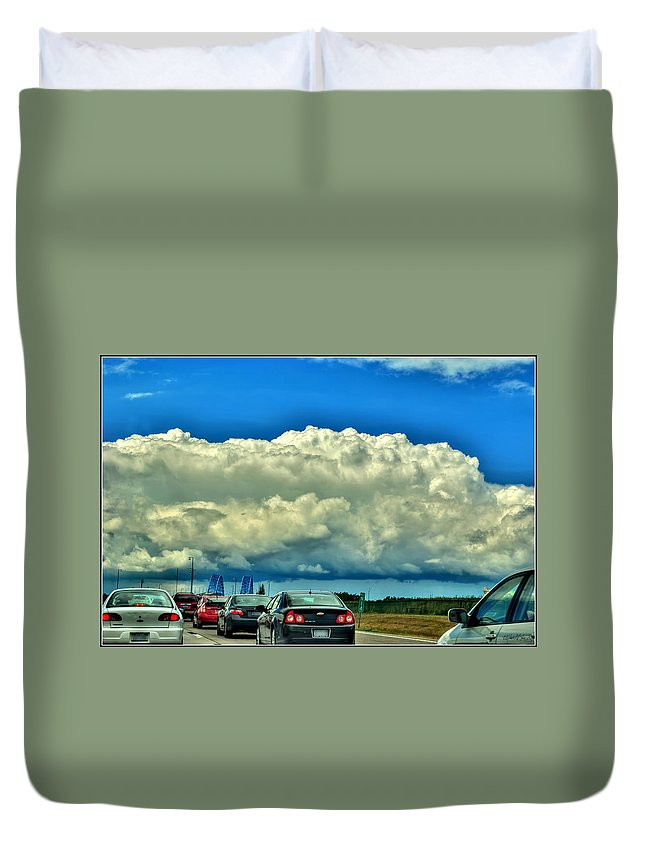 Duvet Cover featuring the photograph 001 Grand Island Bridge Series by Michael Frank Jr