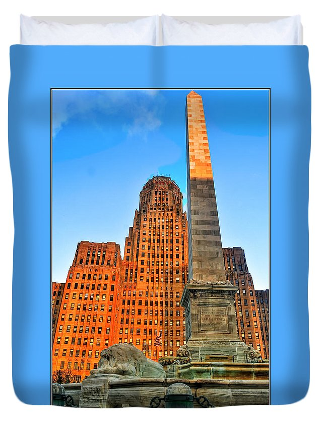 Duvet Cover featuring the photograph 001 Wakening Architectural Dynamics by Michael Frank Jr