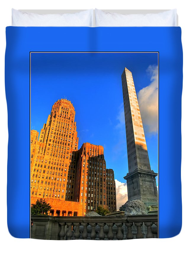 Duvet Cover featuring the photograph 002 Wakening Architectural Dynamics by Michael Frank Jr