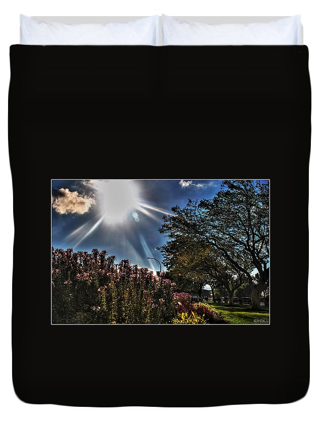 Duvet Cover featuring the photograph 003 Summer Sunrise Series by Michael Frank Jr